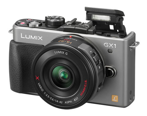 Shown here is the GX1 with a silver body.