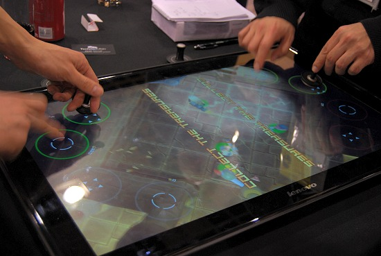 Lenovo's Horizon Table PC converts into a flat surface, ideal for games like Air Hockey!