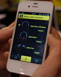 Jabra's audio app even allows you to select which headset you own to apply the best suitable audio settings.