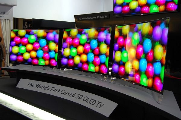 LG introduced the world's first curved 3D OLED TV at CES 2013. It plans to introduce a smartphone with a flexible display later this year.