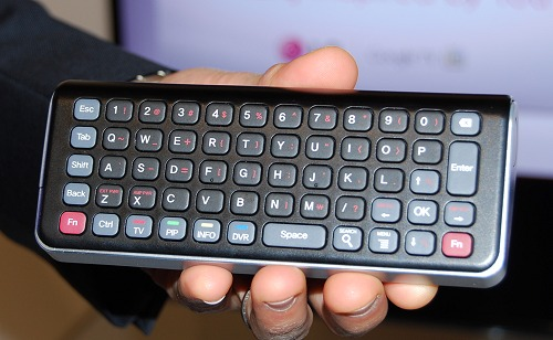 The flip side reveals the QWERTY keyboard, useful for internet browsing.