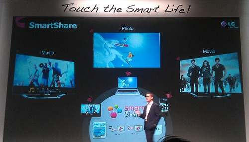 A snapshot of SmartShare working across multiple consumer electronics products, protocols and content types.