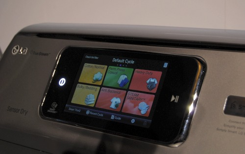 A quick peek at the LG smart washing machine's interface.
