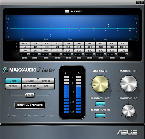 The MAXXAUDIO application lets advanced users fine tune the ET2300INTI's sound.