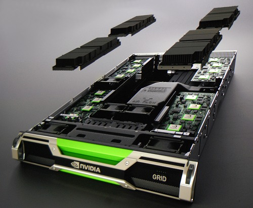 NVIDIA claims that this high-density 12-GPU GRID server can deliver 36 times more HD quality gaming streams than earlier cloud-based gaming systems.