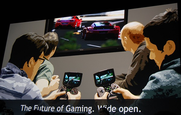 Here's a parting slide from NVIDIA's press conference on what it intends to achieve. Shown here are two players who are playing the game from their personal point of view on the Shield device, but onlookers/supporters can actually see all the action unfolding from an overall perspective.