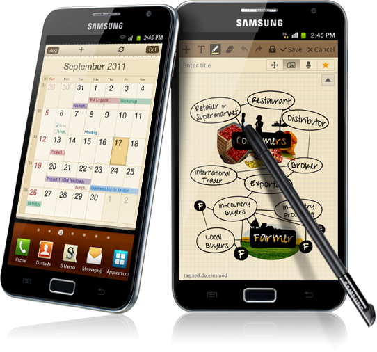 Get the Samsung Galaxy Note at $288 with a two-year contract on SmartSurf 700/i2Surf 700 at $98/mth.