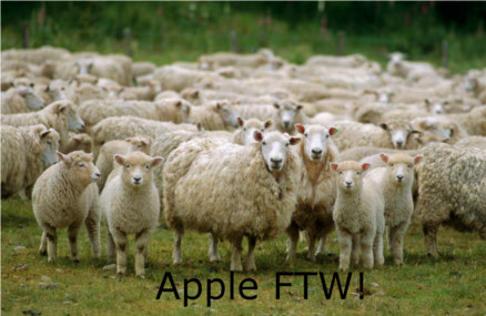 Admit it. Some of you have this in mind when you see Apple fanboys.