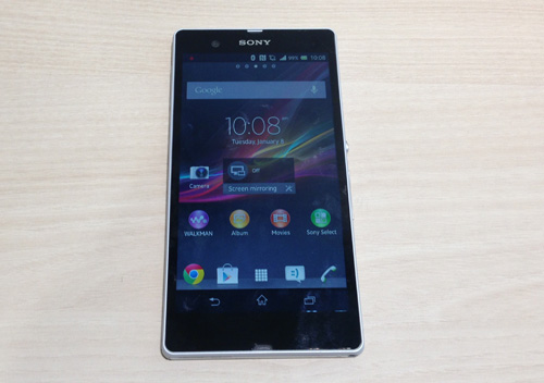 The Sony Xperia Z boasts a 5-inch scratch resistant Reality Display powered by Mobile BRAVIA Engine 2