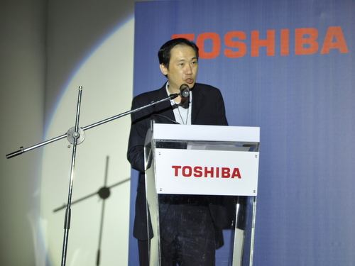 Toshiba's opening speech is centered around the digitization of conventional media, and how important it is to have to right device for your style of media consumption.