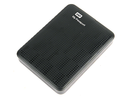"""The Western Digital My Passport drive might be chunky, but it is the """"shortest"""" of the drives, making it easy to carry. It also has an interesting, rubber-like surface with matrix patterns."""