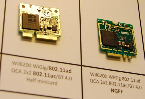 There are the two new modules, the QCA9006WBD half-mini card (HMC) specification and the QCA9006NFC next-generation form factor (NGFF).