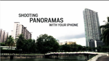 Shooting Panoramas with your iPhone